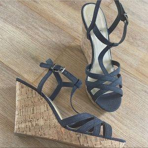 strappy denim Jessica  Simpson heels